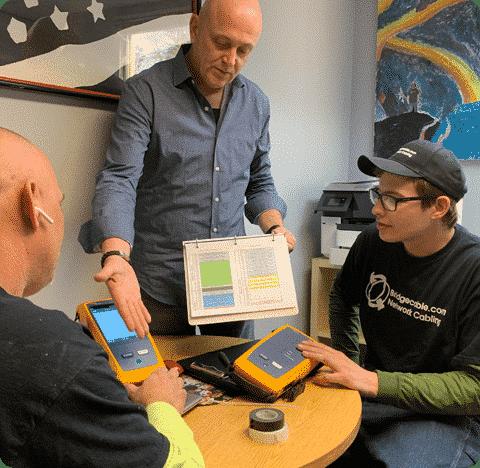 office fluke certifiber tester abington network cabling