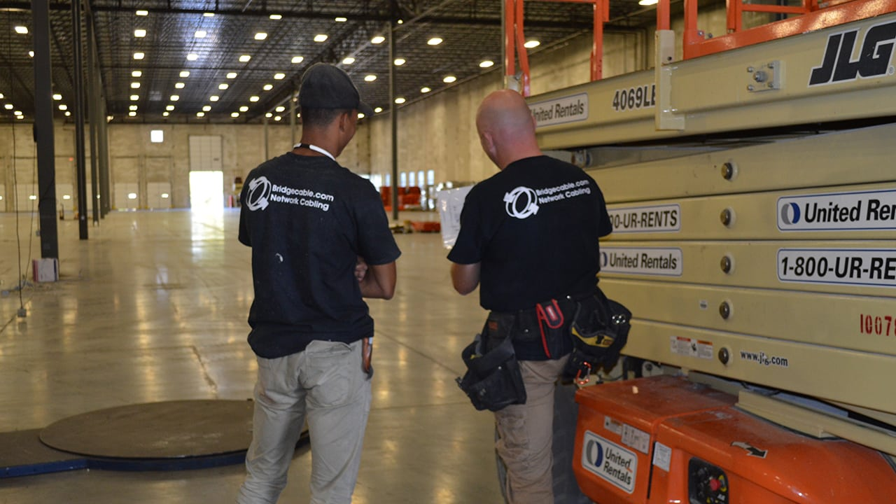 warehouse network cabling philly planning