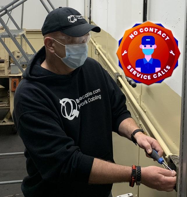 Philadelphia Network Cabling Covid Precautions