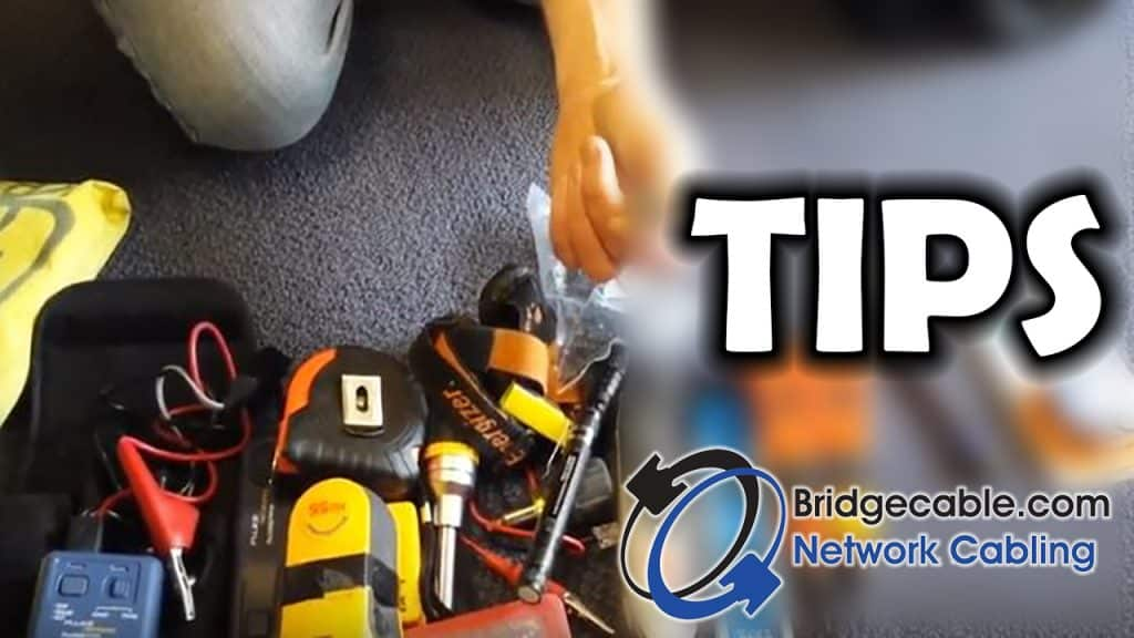 Check out the basic go to gear that should be in a network cabling technician's tool kit and tool belt!